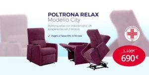 Vieni a trovarci nel nostro store e prova la poltrona relax city