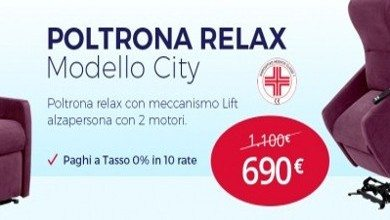 OFFERTA ESCLUSIVA SU UN NUMERO LIMITATO DI <br>POLTRONE RELAX CITY