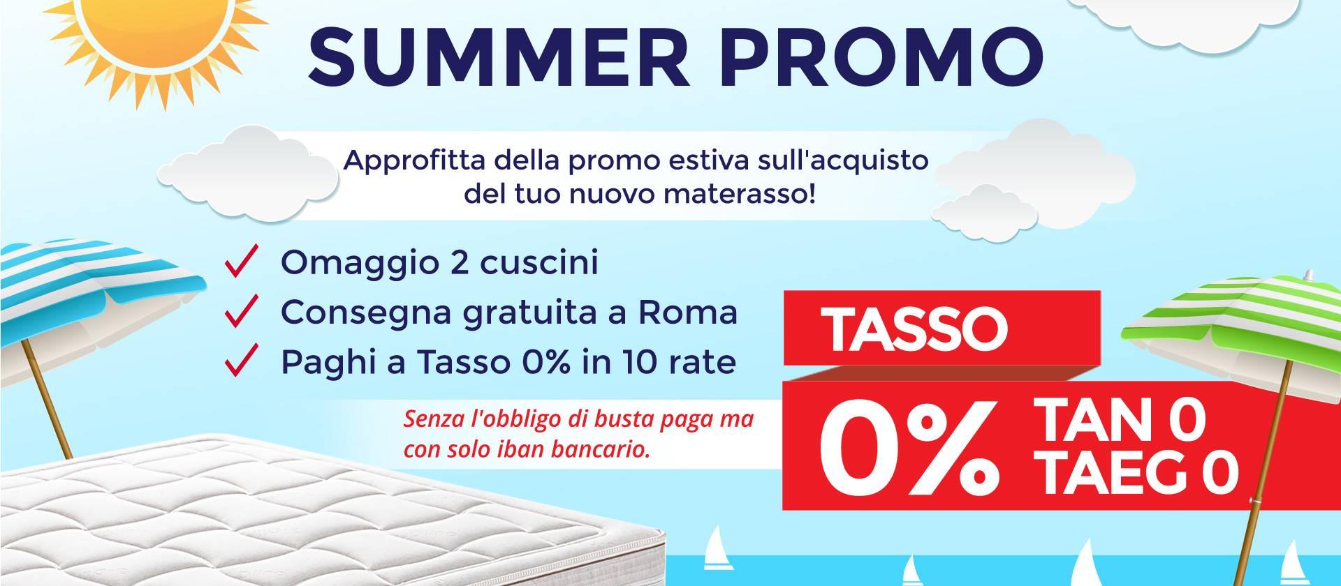 Materassi roma summer promo